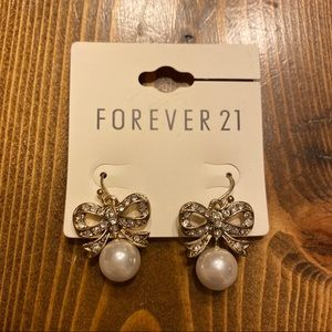 FREE with Other Jewelry- Forever 21 Bow Earrings